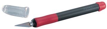 Scalpel Soft blister met scalpel met 1 mesje op het heft gemonteerd en 2 vervangmesjes
