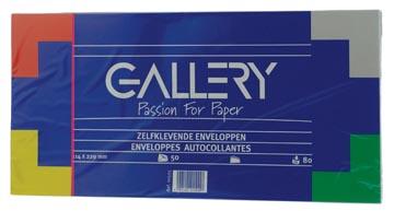 Gallery enveloppen ft 114 x 229 mm, stripsluiting, pak van 50 stuks