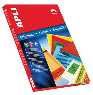 Apli Gekleurde etiketten ft 70 x 37 mm (b x h), blauw, 2.400 stuks, 24 per blad