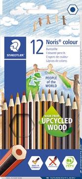 Staedtler kleurpotlood Noris Club People Of The World 12 kleurpotloden