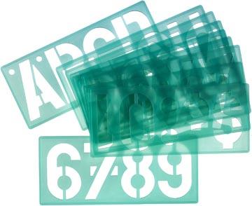 Linex lettersjabloon van 100 mm, set van 4 stuks