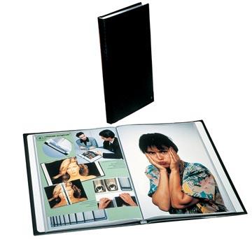 Rillstab showalbum A4 60 tassen, zwart