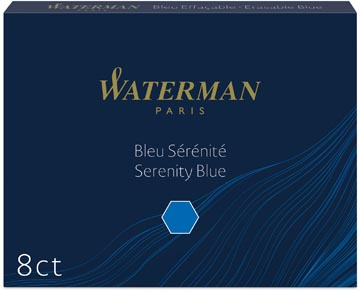 Waterman inktpatronen Standard blauw Florida, pak van 8 stuks