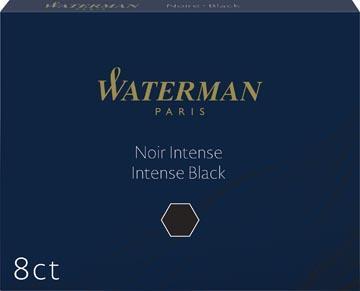 Waterman inktpatronen Standard zwart, pak van 8 stuks