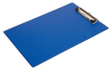 Pergamy klemplaat, voor ft A4, uit PVC, blauw