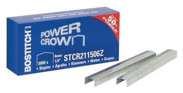 Bostitch nietjes STCR211506Z, 6 mm, voor B8R, B8HC, B8HDP, B8P, B8E, doos van 5.000 nietjes