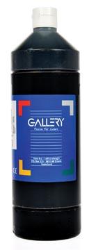 Gallery plakkaatverf, flacon van 1 l, zwart